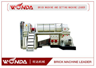 China Red Clay Automatic Brick Making Machine , Double Stage Vacuum Brick Extruder supplier