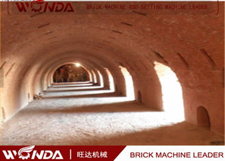 Hoffman Brick Tunnel Kiln , Red Clay Brick Making Kiln?With Tunnel Dryer