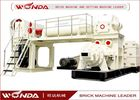 China Red Sintered Clay Brick Making Machine Vacuum Extruder All Steel Material company