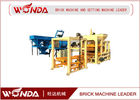 China QT4 - 25 Automatic Brick Making Machine , Concrete Cement Block Maker?Steel Frame company